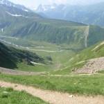 Col de Tricot: Chalets de Miage in de diepte